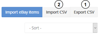 CSV import and export