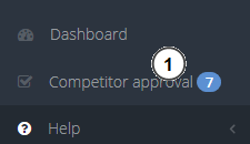 Competitor approval menu